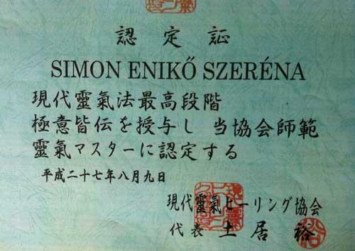Simon Eniko, dipl in japoneza